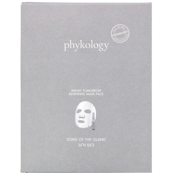 Phykology, Bright Tomorrow Renewing Mask Pack, 5 Sheets, 23 g Each