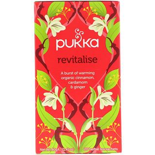 Pukka Herbs, リバイタライズ, オーガニックシナモン, カルダモン, & ジンジャーティー, 20 ティーバッグ入り, 1.41 oz (40 g)