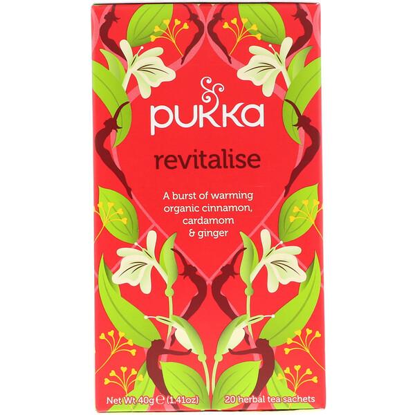 Revitalise, Organic Cinnamon, Cardamom, & Ginger Tea, 20 Tea Sachets, 1.41 oz (40 g)