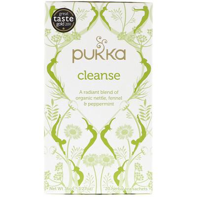 Купить Pukka Herbs Очищающий травяной чай, не содержащий кофеина, 20 пакетиков, 1, 27 ун. (36 г)