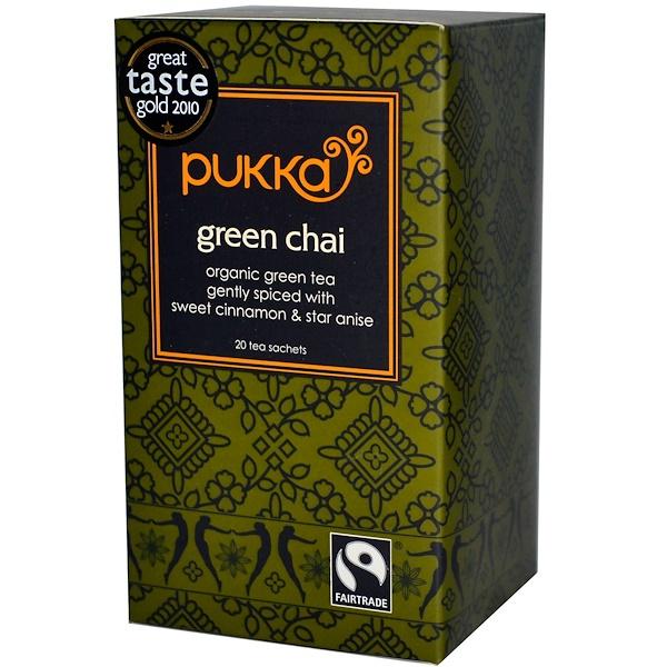 Pukka Herbs, Green Chai, 20 Tea Sachets, 1.41 oz (40 g) (Discontinued Item)