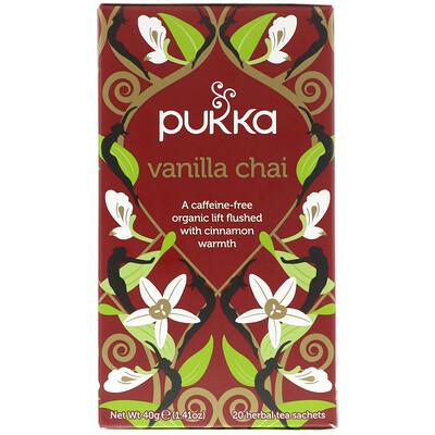 Купить Pukka Herbs Ванильный чай, без кофеина, 20 пакетиков, 1, 41 унции (40 г)