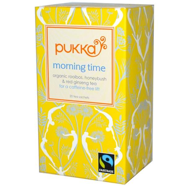 Pukka Herbs, Morning Time, без кофеина, 20 чайных пакетиков, 1,06 унции (30 г) (Discontinued Item)