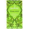 Pukka Herbs, Травяной чай Three Mint, без кофеина, 20 пакетиков, 32 г