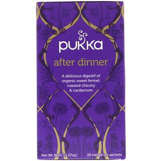 Pukka Herbs, After Dinner, 20 Herbal Tea Sachets, 1.27 oz (36 g)