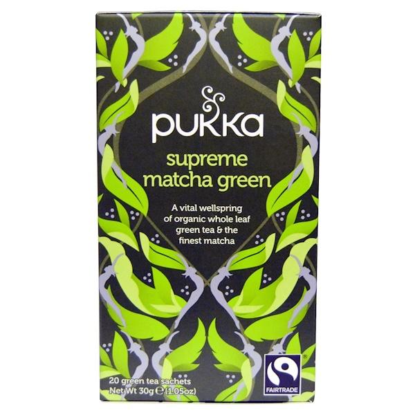 Pukka Herbs, Supreme Matcha Green, 20 Green Tea Sachets, 1.05 oz (30 g)