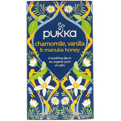 цена на Chamomile, Vanilla & Manuka Honey Tea, 20 Herbal Tea Sachets, 0.05 oz (1.6 g)