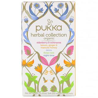 Pukka Herbs, Organic Herbal Tea Collection, 20 Herbal Tea Sachets, 1.21 oz (34.4 g)