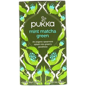 Пукка хербс, Mint Matcha Green Tea, 20 Green Tea Sachets, 1.05 oz (30 g) отзывы покупателей