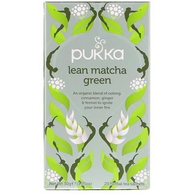 Купить Pukka Herbs Зеленый чай матча для стройности, 20 пакетиков травяного чая, 1, 05 унц. (30 г)