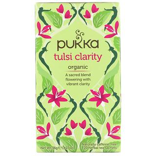 Pukka Herbs, Organic Tulsi Clarity, Caffeine-Free, 20 Herbal Tea Sachets, 1.27 oz (36 g)