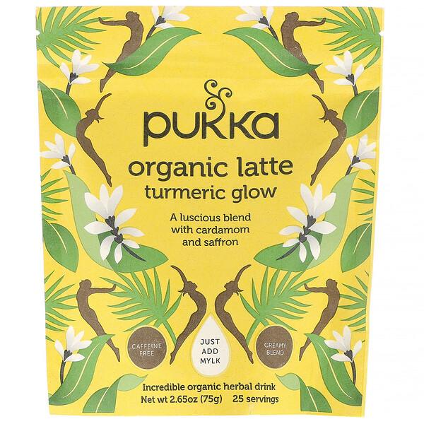 Turmeric Glow Organic Latte, Caffeine-Free, 2.65 oz (75 g)