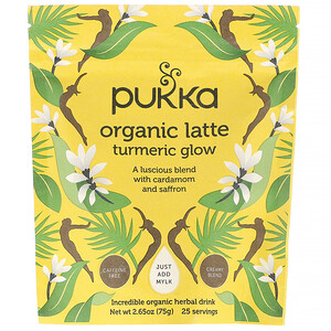 Пукка хербс, Turmeric Glow Organic Latte, Caffeine-Free, 2.65 oz (75 g) отзывы