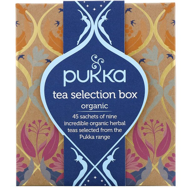 Pukka Herbs,  Organic Tea Selection Box, 9 Herbal Teas, 45 Tea Sachets