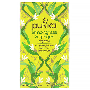 Пукка хербс, Organic Lemongrass & Ginger, Caffeine-Free, 20 Herbal Tea Sachets, 1.27 oz (36 g) отзывы покупателей
