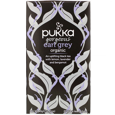 Купить Pukka Herbs Organic Gorgeous Earl Grey, 20 Black Tea Sachets, 1.41 oz (40 g)
