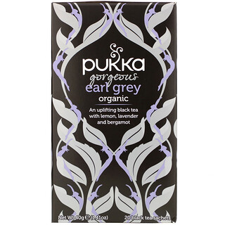 Pukka Herbs, Organic Gorgeous Earl Grey, 20 Black Tea Sachets, 1.41 oz (40 g)