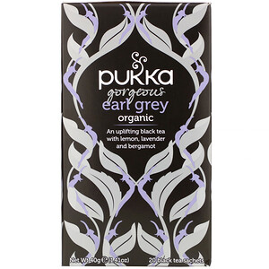 Pukka Herbs, Organic Gorgeous Earl Grey, 20 Black Tea Sachets, 1.41 oz (40 g)