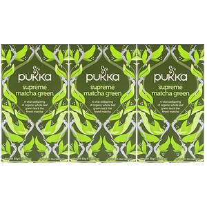 Пукка хербс, Supreme Matcha Green, 3 Pack, 20 Herbal Tea Sachets Each отзывы покупателей