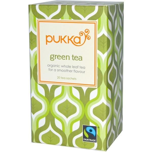Pukka Herbs, Green Tea, 20 Tea Sachets, 1.06 oz (30 g) (Discontinued Item)