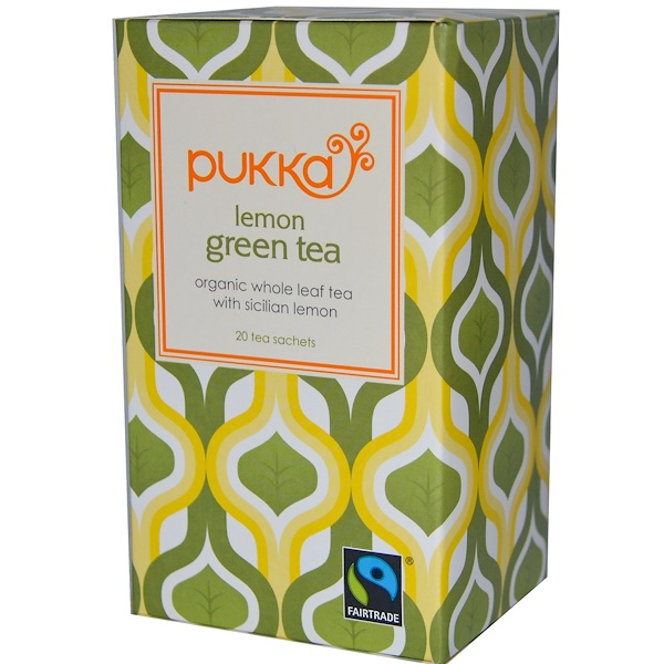 Pukka Herbs, Lemon Green Tea, 20 Tea Sachets, 1.06 oz (30 g) (Discontinued Item)