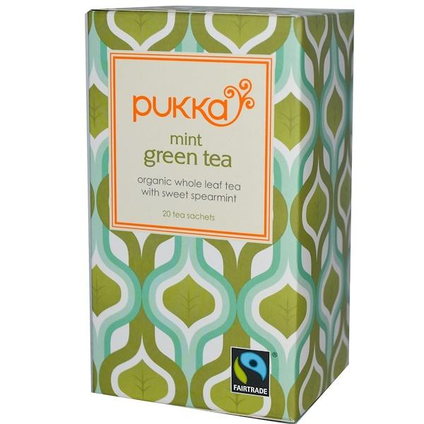 Pukka Herbs, Mint Green Tea, 20 Tea Sachets, 1.06 oz (30 g) (Discontinued Item)