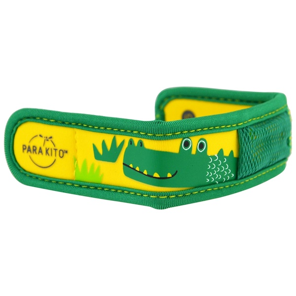 Para'kito, Mosquito Repellent Band + 2 Pellets, Kids, Crocodile, 3 Piece Set