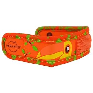 Паракито, Mosquito Repellent Band + 2 Pellets, Kids, Toucan, 3 Piece Set отзывы
