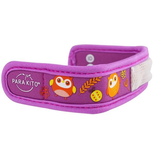 Para'kito, Mosquito Repellent Band + 2 Pellets, Kids, Owl, 3 Piece Set (Discontinued Item)