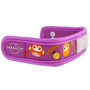 Паракито, Mosquito Repellent Band + 2 Pellets, Kids, Owl, 3 Piece Set отзывы