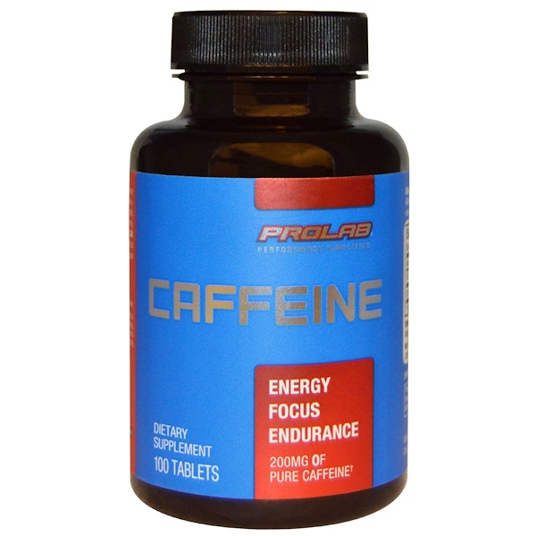 ProLab, プロラブ, カフェイン、200 mg、100錠 (Discontinued Item)