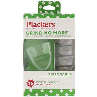 Plackers, Grind No More, descartables, placas para bruxismo, 16 unidades