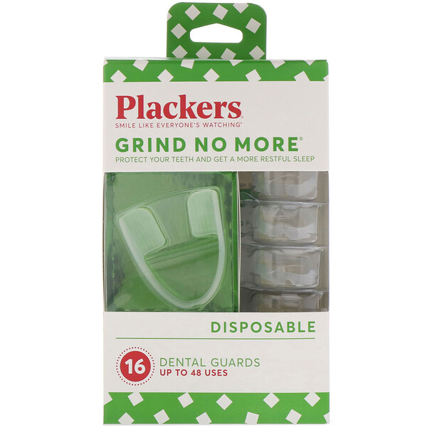 Plackers, Grind No More, одноразовые капы, 16 шт.
