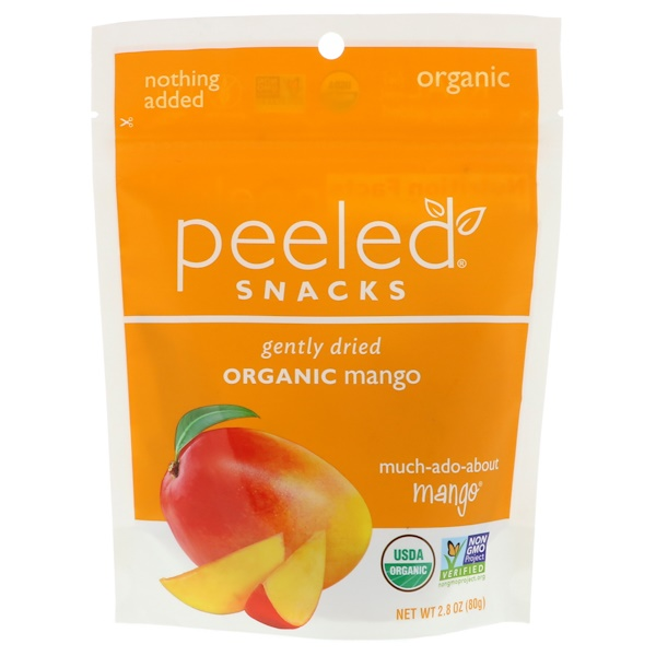 Peeled Snacks, Gently Dried, Organic, Mango, 2.8 oz (80 g)