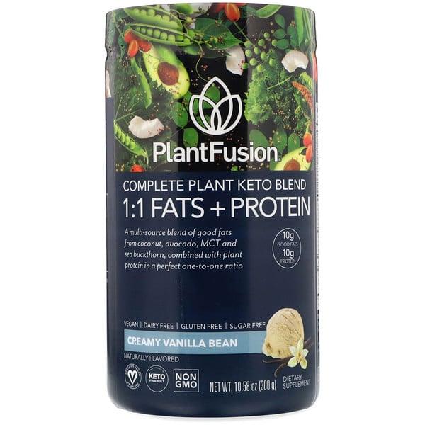コンプリート植物ケトブレンド、1:1脂肪分+タンパク質、クリーミーバニラビーン、300g