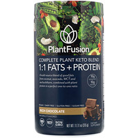 PlantFusion, Complete Plant Keto Blend, 1:1 Fats + Protein, Rich Chocolate, 11.11 oz (315 g)