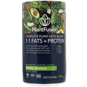 PlantFusion, Complete Plant Keto Blend, 1:1 Fats + Protein, Natural - No Stevia, 10.23 oz (290 g)
