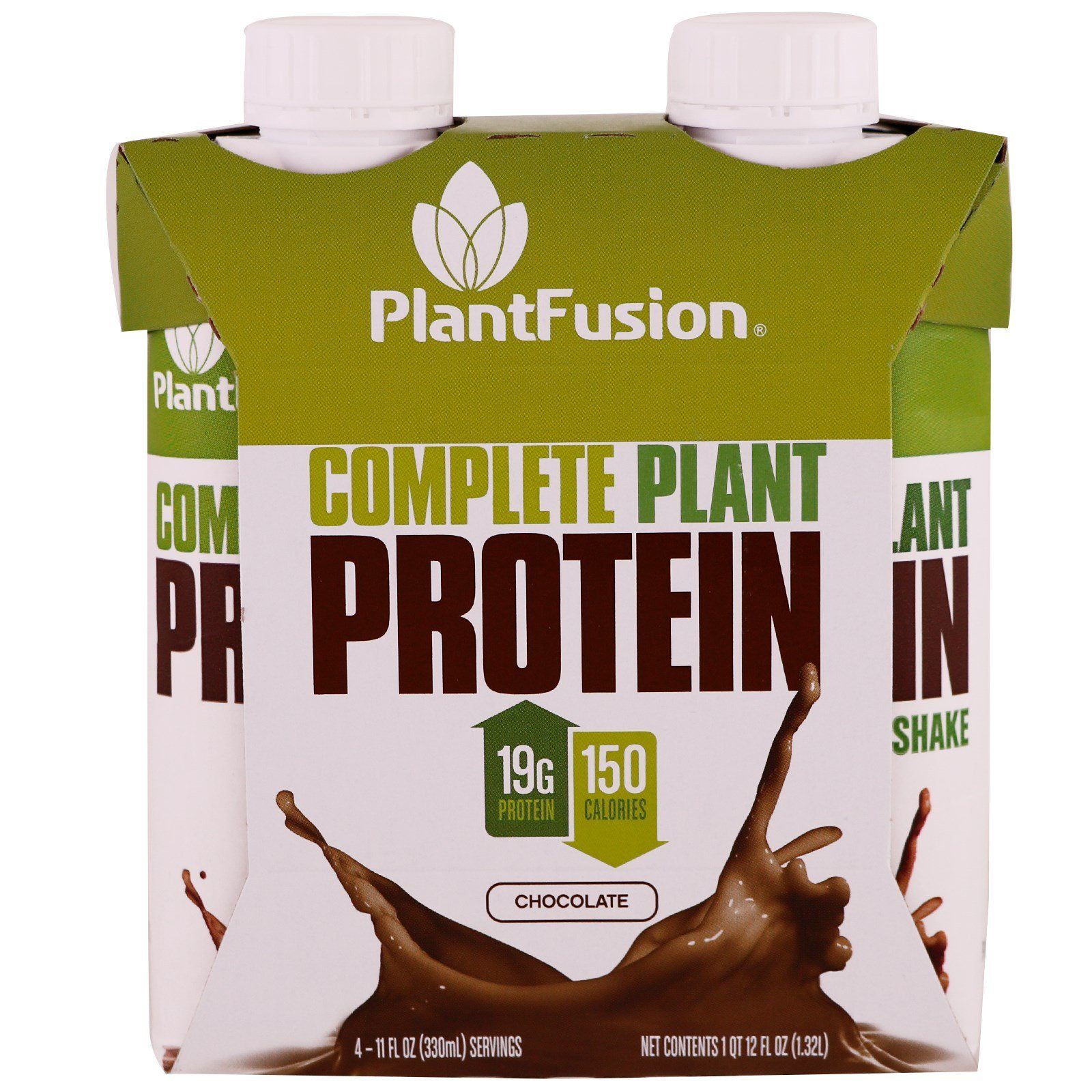 PlantFusion, Complete Plant Protein, Chocolate, 4 Pack, 11 fl oz  (330 ml)  Each (Discontinued Item)
