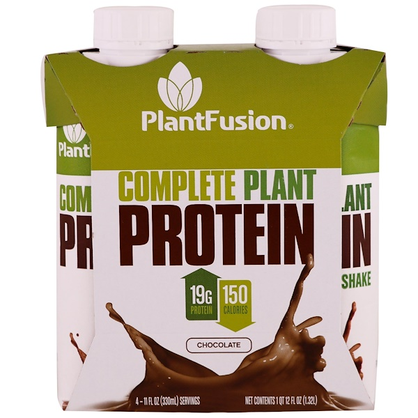 PlantFusion, Полноценный растительный протеин, шоколад, 4 пакетика, 11 ж. унц. (330 мл) каждая (Discontinued Item)