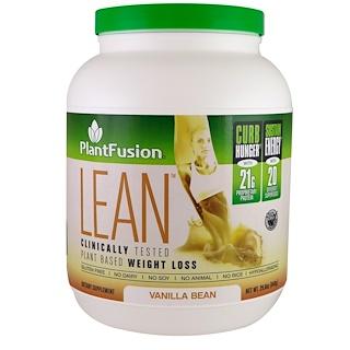PlantFusion, Lean, Vanilla Bean, 29.6 oz (840 g)