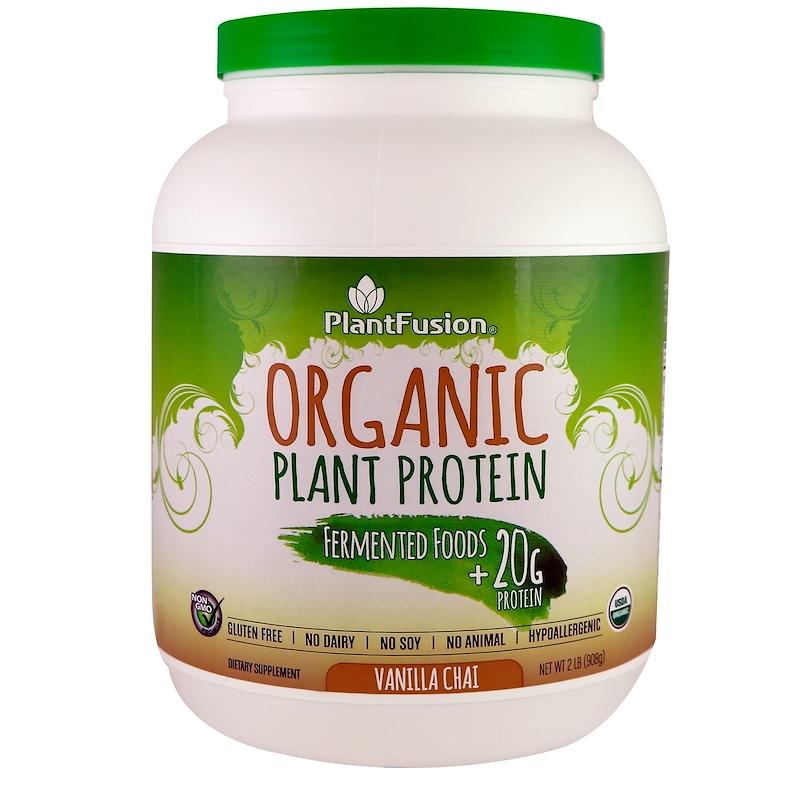 Organic Plant Protein, Vanilla Chai, 2 lb (908 g)