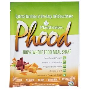 ПлэнтФьюжэн, Phood, 100% Whole Food Meal Shake, Chocolate Caramel, 12 Packets, 1.59 oz (45 g) Each отзывы