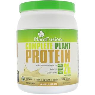 PlantFusion, Complete Protein, Vanilla Bean, 1 lb (454 g)