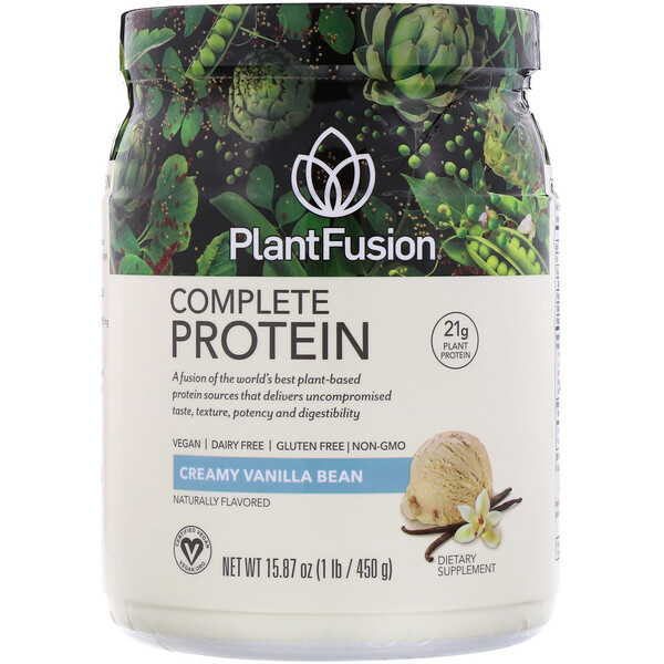 Complete Protein, Creamy Vanilla Bean, 15.87 oz (450 g)