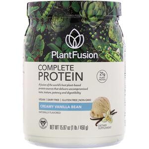 ПлэнтФьюжэн, Complete Protein, Creamy Vanilla Bean, 15.87 oz (450 g) отзывы покупателей