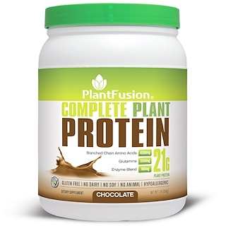 PlantFusion, Complete Plant Protein, Chocolate, 1 lb (454 g)