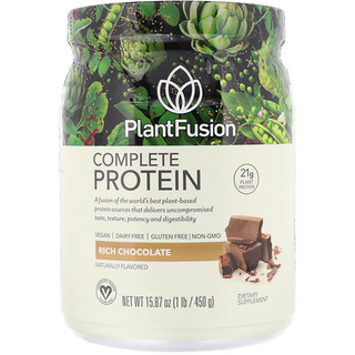 PlantFusion, Complete Protein, Rich Chocolate, 1 lb (450 g)