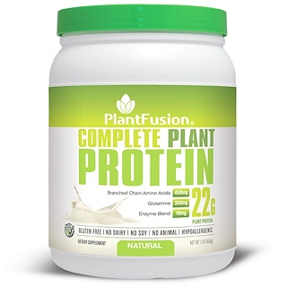 PlantFusion, Complete Plant Protein, Natural, 1 lb (454 g)