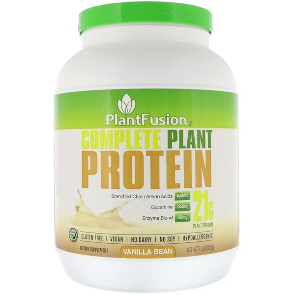 PlantFusion, 全植物蛋白,香草豆味,2 磅(908 克)