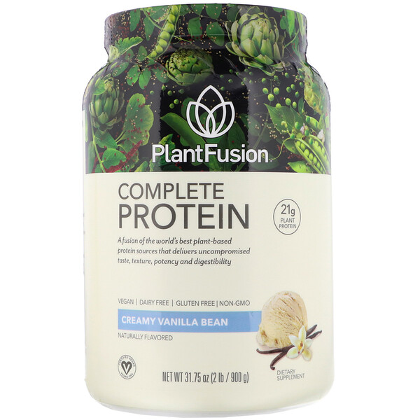 PlantFusion, Complete Protein, сливочная ваниль, 900 г